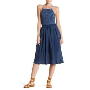 NWT $129 Lucky Brand Schiffli Bib Dress sz L